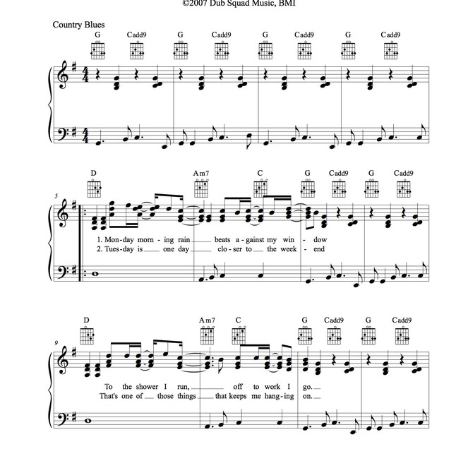 Sheet Music: sample